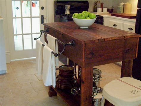 Wooden Kitchen Island Table Vintage Home How To Build A Rustic Kitchen Table Island