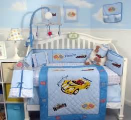 Car Nursery Decor Total Fab Race Car Crib Bedding Really Race Y Nursery Decor For Less