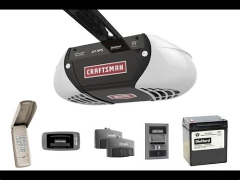 sears craftsman  hp belt driven garage door opener