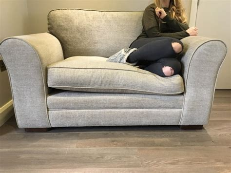snuggle sofa beautiful grey snuggle sofa couch seat for sale in