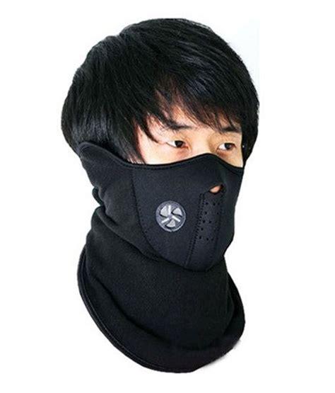 Neoprene Anti Pollution Bike Face Mask/Neck Warmer   Black