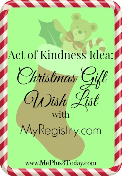 act of kindness idea christmas gift wish list with