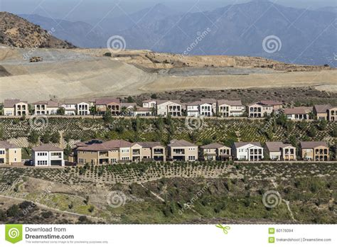 Hillside Homes porter ranch california hillside homes construction stock