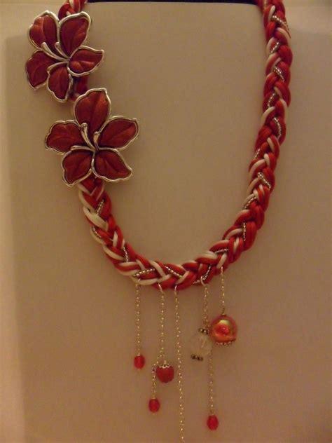 collane fiori collana rossa con fiori gioielli collane di laurina