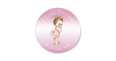 baby shower de princess pink princess baby shower classic sticker