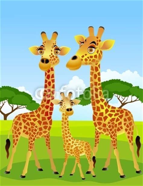 imagenes de jirafas en familia configurar fotomural quot jirafa de dibujos animados familia