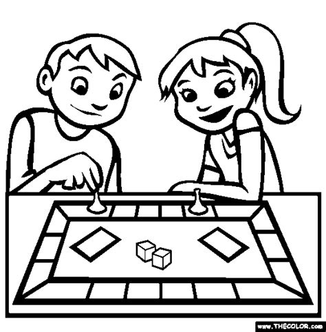 board game coloring page free board game online coloring