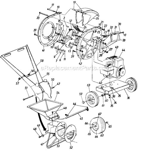 wood chipper diagram mtd chipper shredder parts diagram get free image about