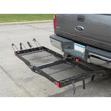 Cargo Carrier With Bike Rack by Ultra Tow 2 In 1 Steel Cargo Carrier With 4 Bike Rack