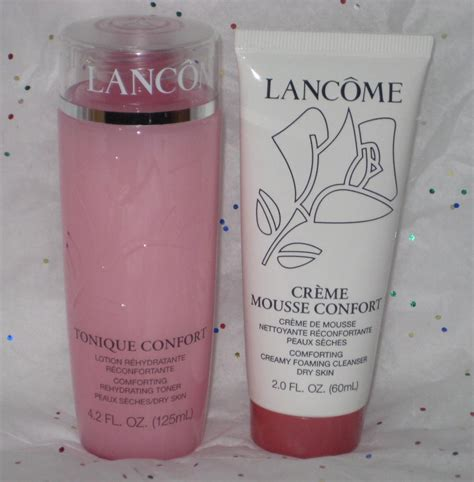 tonique confort comforting rehydrating toner lancome creme mousse confort comforting foaming cleanser