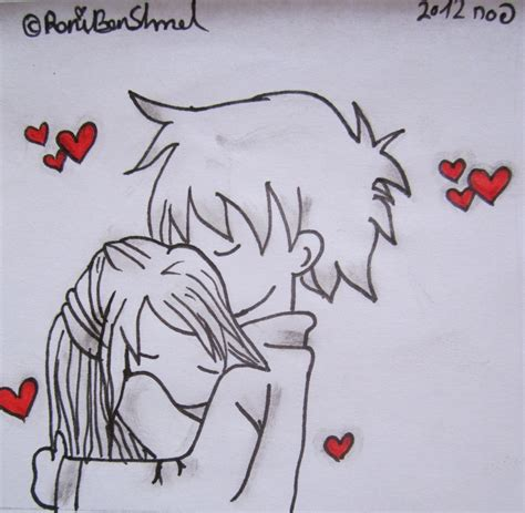 cute cuple hug and kissing sketch pics cute chibi couple hugging by roniartforlife on deviantart