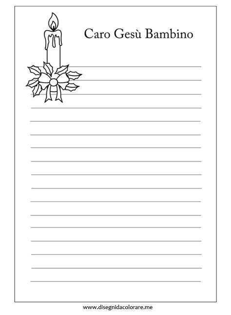 lettere a gesu bambino letterina per ges 249 bambino disegni da colorare