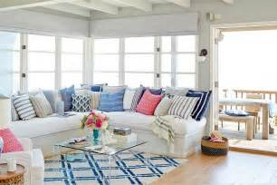 Blue Sectional Sofas by Beadboard Sectional Sofa Cottage Living Room