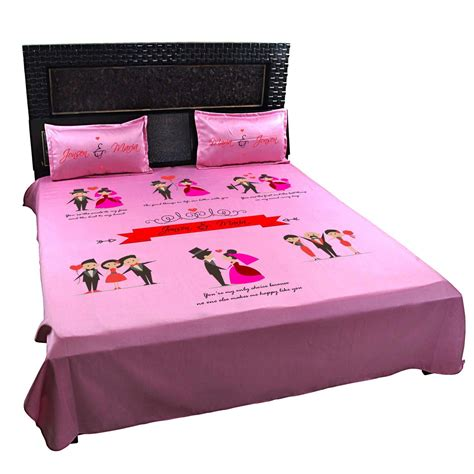 personalized beds personalized romantic bed sheet for married couple