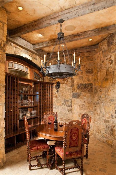 medieval style wine cellar hgtv