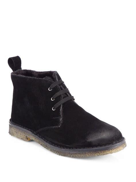 black chukka boots vince chukka boots in black lyst