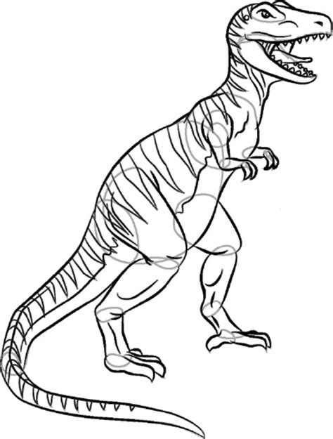 Drawing Dinosaurs by How To Draw Tyrannosaurus Rex How To Draw Tyrannosaurus