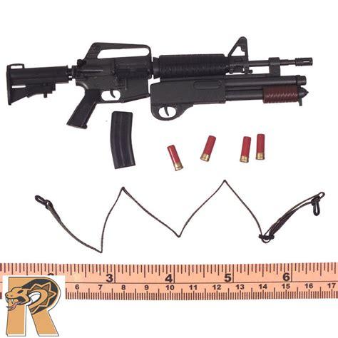 6 figure weapons colt weapons 2 m4 assault rifle w shotgun 1 6 scale