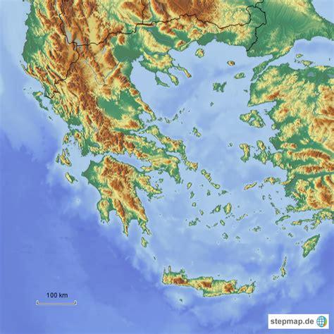 Bis Wann Motorradfahren by Griechenland Relief Starlinerms Landkarte F 252 R