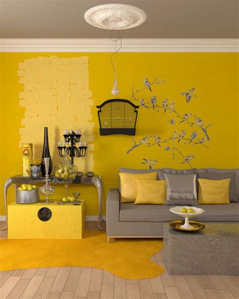 yellow accent wall 25 gorgeous yellow accent living rooms