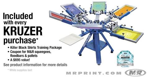 6 color screen printing press kruzer manual screen printing press textile screen