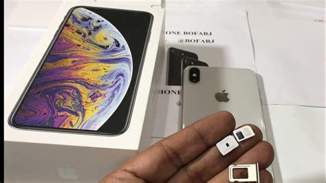 فتح علبة ايفون اكس اس ماكس شريحتين iphone xs max unboxing