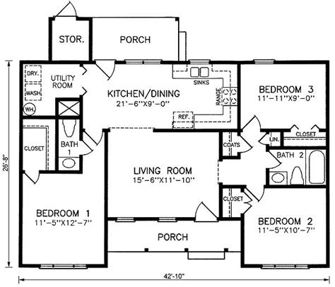 1100 Square House Design 17 Best Images About 1100 Sq Ft Home Plans On Pinterest