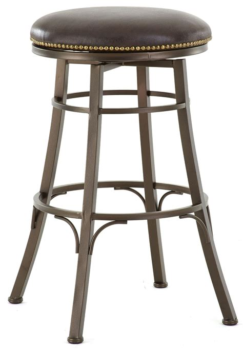 Leather Backless Bar Stools by Bali Bonded Leather Backless Swivel Bar Stool From Steve