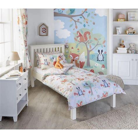 childrens bed sets woodland duvet set single toddler cot bed curtains