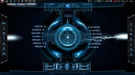 theme windows 7 electric batcomputer wallpaper wallpapersafari
