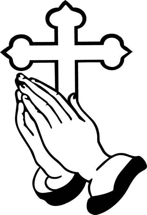 hands coloring page free praying hands coloring pages clipart best