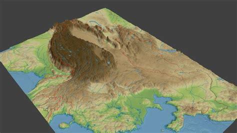 china map land  model cgtrader