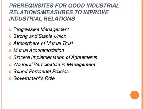 Ndsu Mba Prerequisites by Industrial Relations Pptx Mba