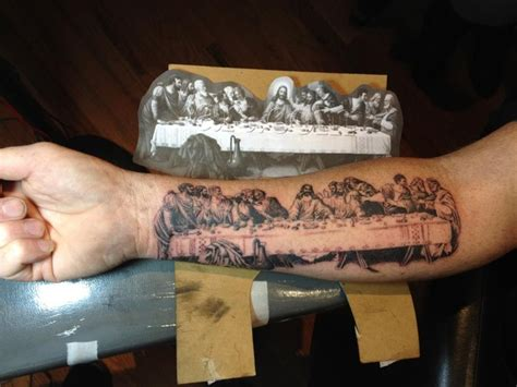 last supper tattoo last supper ink