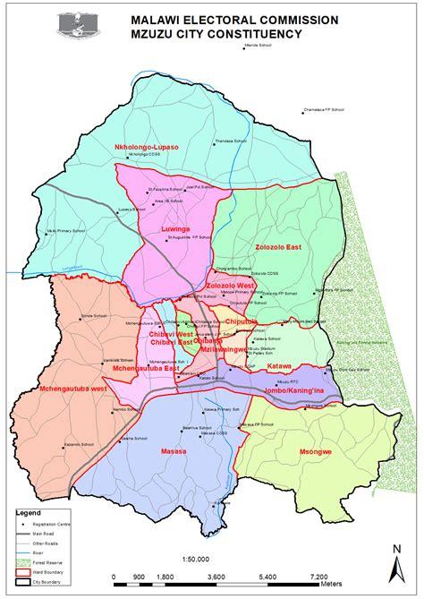 Maps Constituency Northern Region Malawi Electoral
