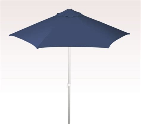 Vinyl Patio Umbrella Personalized Navy Blue 7 Ft X 6 Panel Configuration Vinyl Patio Umbrellas Personalized Blue