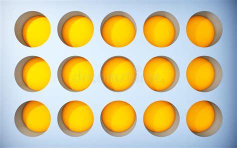 mensole gialle mensole gialle in bianco modello illustrazione di