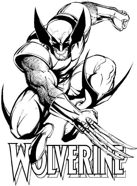 Dibujos de Wolverine para colorear   en Picturalia