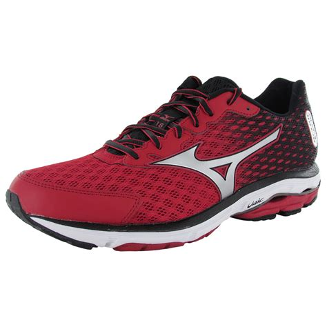 mizuno wave rider running shoes mizuno mens wave rider 18 running sneaker shoes ebay