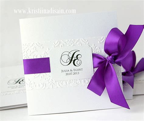 Purple Wedding Invitation Paper by Purple Wedding Invitations