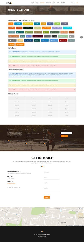 design menu wordpress runek material design wordpress theme by dasinfomedia