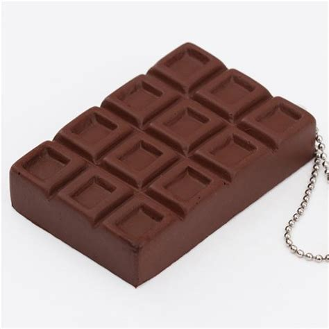 Chocolate Squishy brown chocolate bar cracking squishy by geiiwoo food