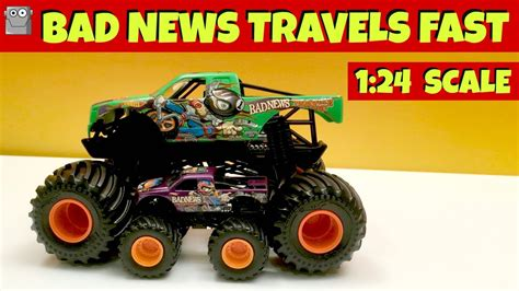 1 24 scale jam trucks bad travels fast 1 24 scale jam truck