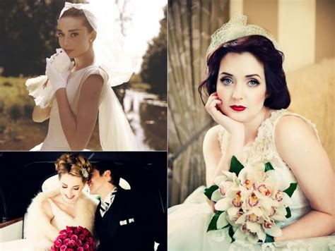vintage themed wedding hairstyles getting that 1950 s bridal look