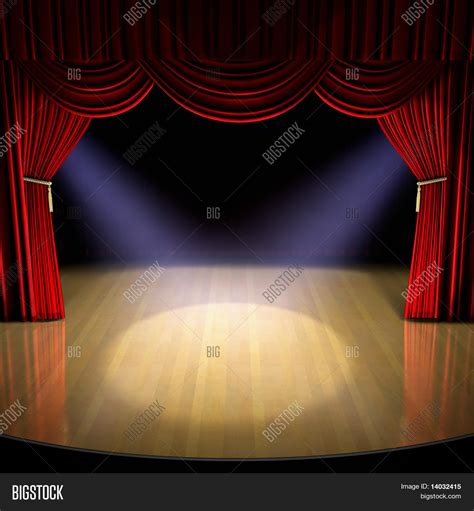 100 floors stage 99 theatre stage with curtain and spotlights on the stage