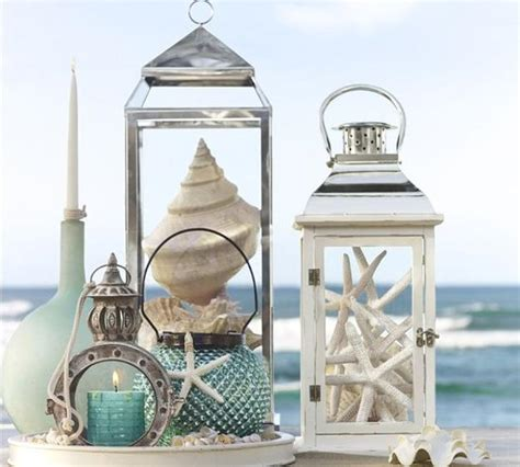 theme decor enhancing nautical decor theme with sea shell crafts and
