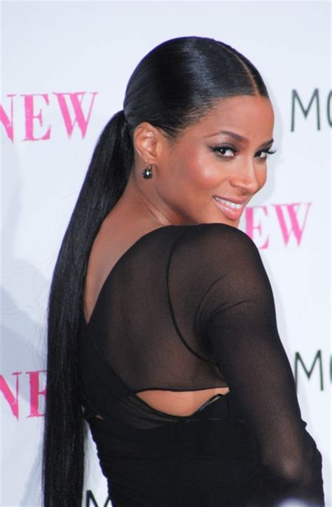 the middle part with weave in a ponytail soladunn s blog hair trend to try center part sleek