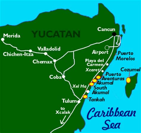 map  cozumel mexico including beaches dive sites