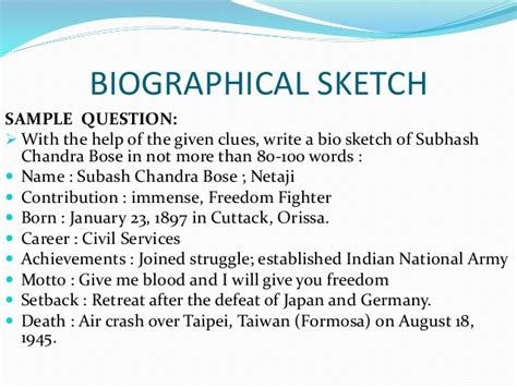 biography writing format cbse writing skills secondary school