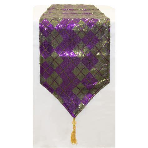 72 Quot Mardi Gras Sequin Argile Table Runner Purple Green
